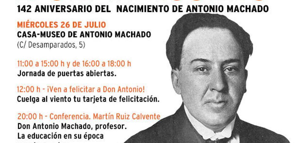 ¡Ven a felicitar a Antonio Machado!