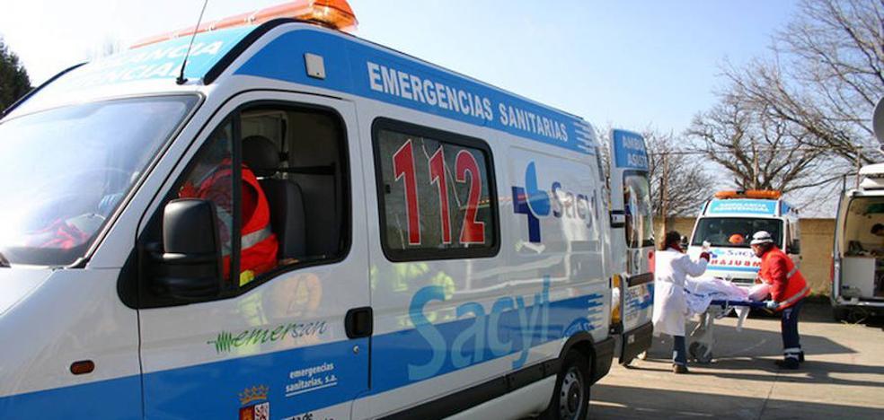 Dos heridos en un accidente con tres camiones en Medinaceli