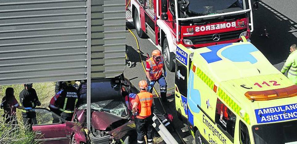 Tres heridos en dos accidentes de tráfico en la misma zona de la autovía A-66