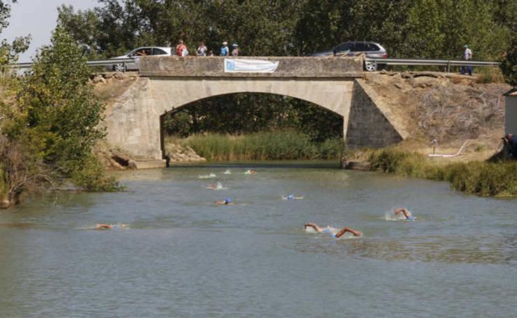 Travesía a nado del Canal de Castilla en Paredes de Nava