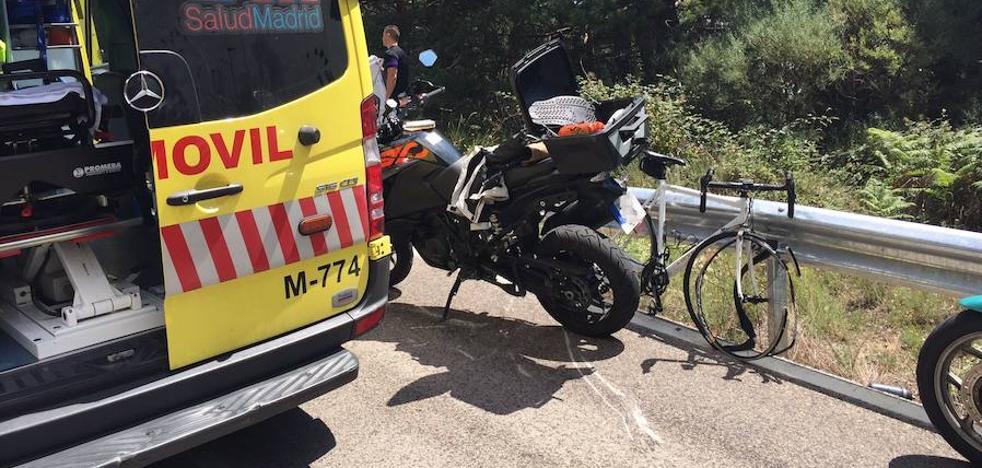 Muere un ciclista de Íscar tras chocar contra una moto en Madrid