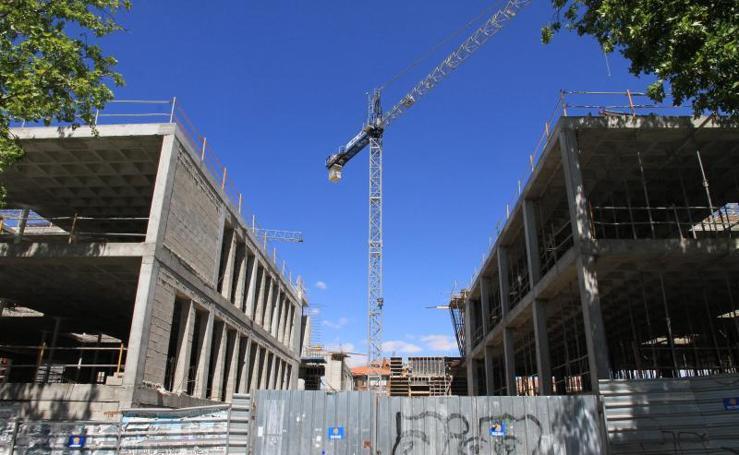 Obras en el campus de la UVa en Segovia