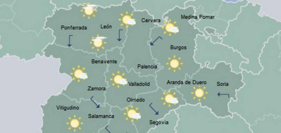 Temperaturas en ligero ascenso y cielo poco nuboso en Castilla y León