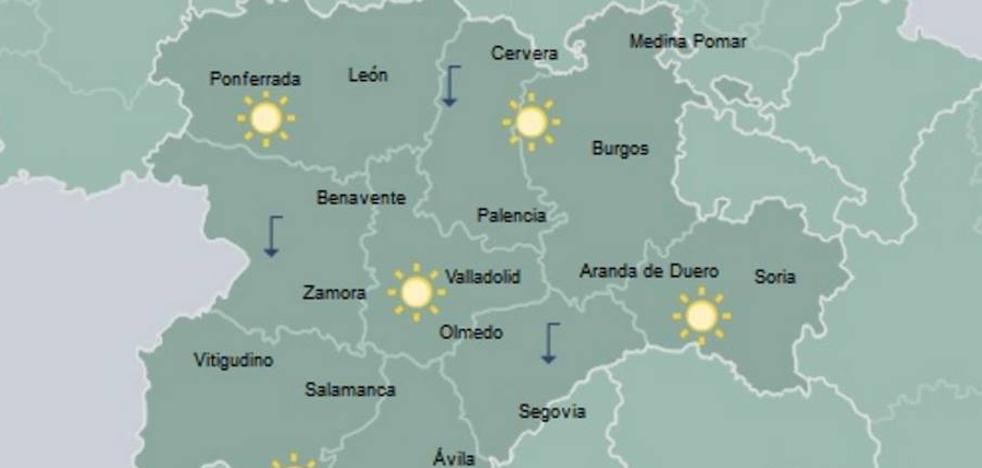 Mínimas en ascenso y cielo casi despejado en Castilla y León