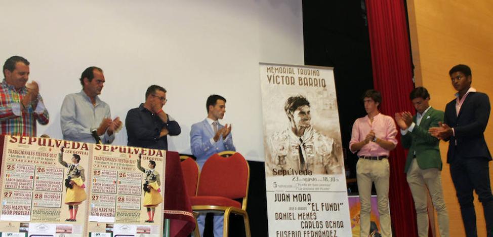 Juan Mora y El Fundi torearán en el Memorial Víctor Barrio