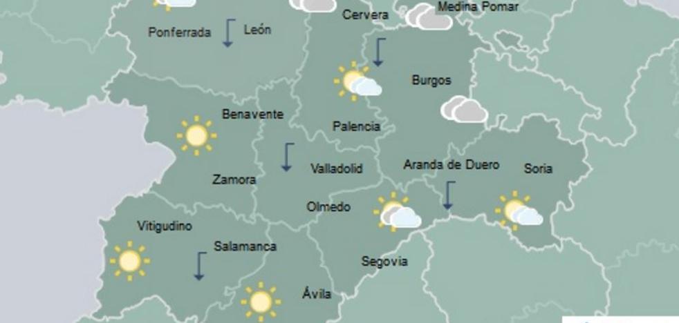 Temperaturas en descenso y cielo poco nuboso generalizado en Castilla y León
