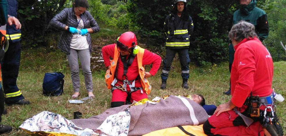Rescatan a un vallisoletano que permaneció 26 horas perdido en los Lagos de Somiedo