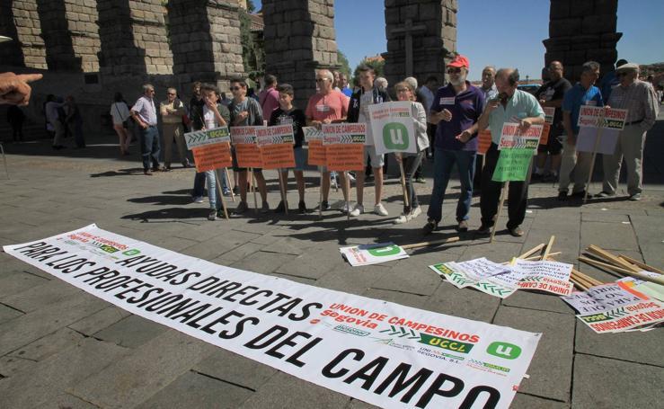 Protesta de ganaderos en Segovia