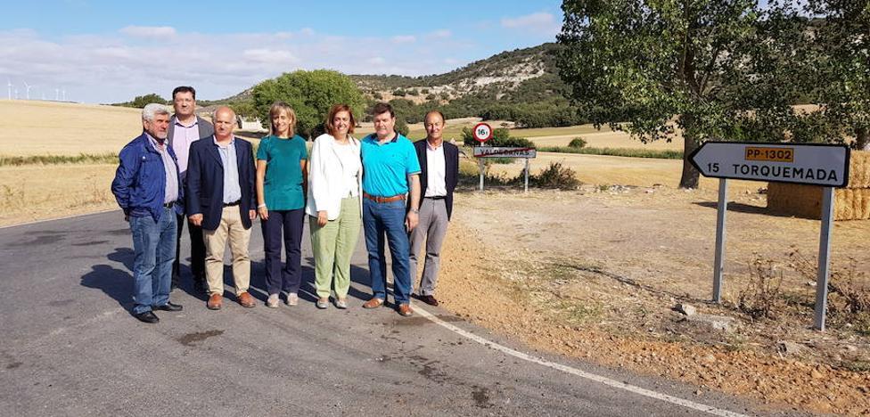 La Diputación de Palencia mejora la carretera de Valdecañas de Cerrato a Torquemada