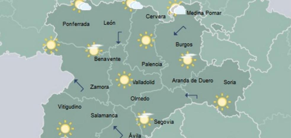 Poco nuboso y temperaturas en ascenso en el norte de Castilla y León