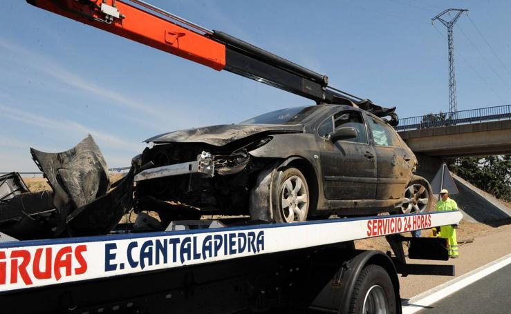 Accidente en la A-62, a la altura de El Montico