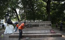 Baltimore retira de madrugada sus monumentos a los confederados
