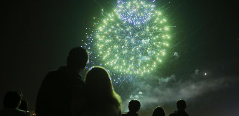 Programa de fuegos artificiales en las Fiestas de la Virgen de San Lorenzo 2017