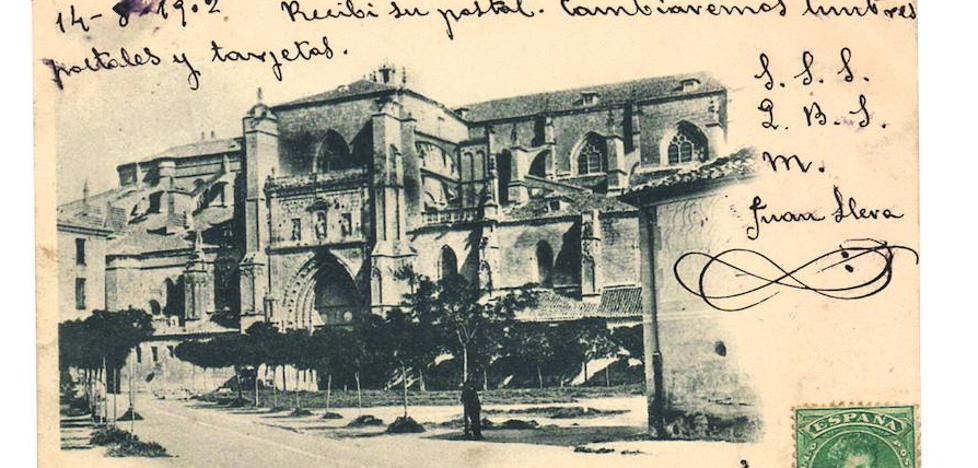Los investigadores sitúan las primeras postales con imágenes palentinas en 1898