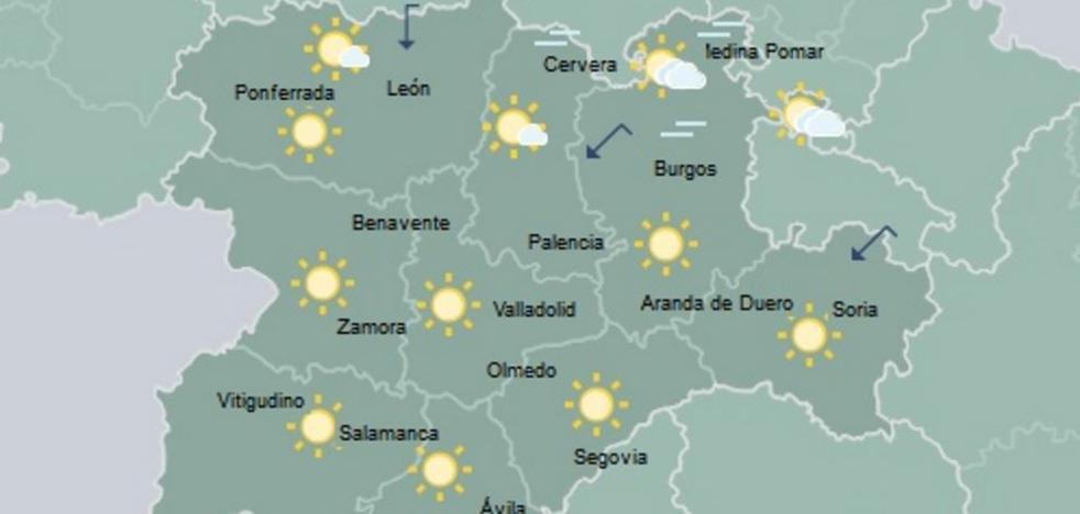 Cielo poco nuboso en Castilla y León