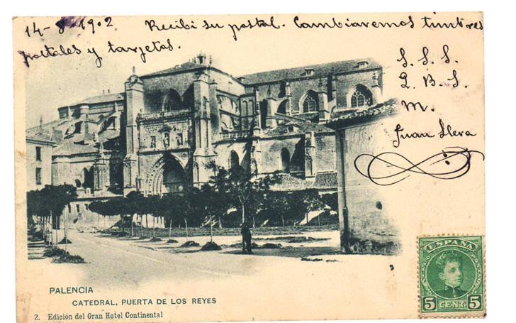 Primeras postales con imágenes palentinas