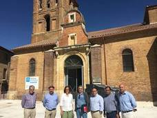 Las obras de la iglesia de San Pedro en Saldaña se encuentran muy avanzadas