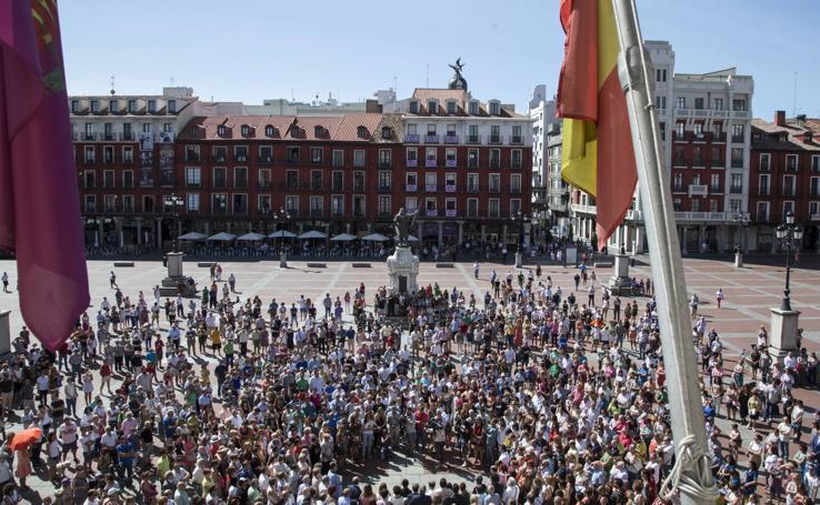 Concentraciones por las víctimas del atentado yihadista de Barcelona y Cambrils en Castilla y León