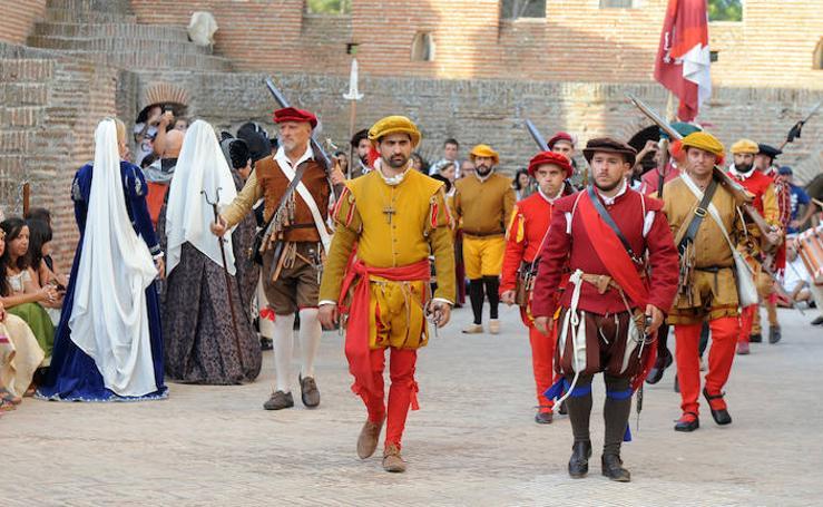 Recreación de una fuga de prisioneros en el Castillo de la Mota