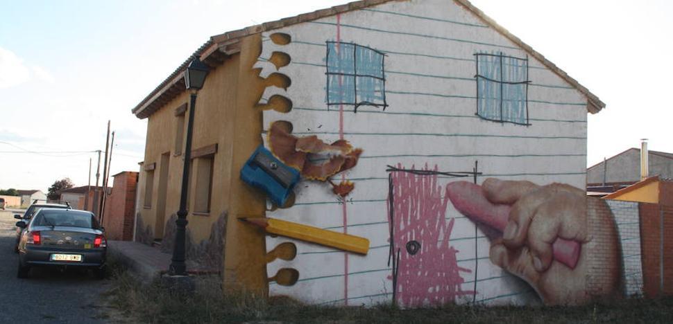 El 'street art' de Sr. Moman inunda Nava de la Asunción