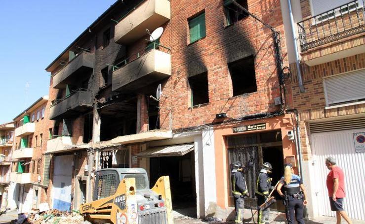 Las imágenes de la explosión de gas en la calle Coca de Segovia