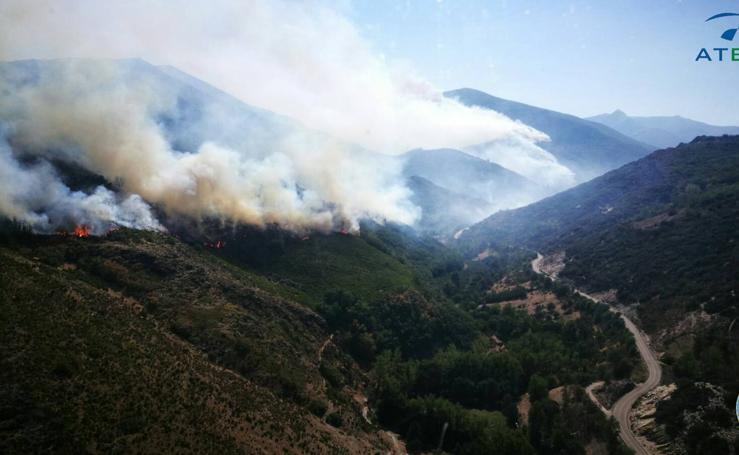 Incendio en Encinedo (León)