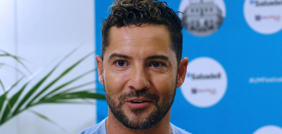 David Bustamante, exultante de felicidad en el estreno de 'Tadeo Jones 2'