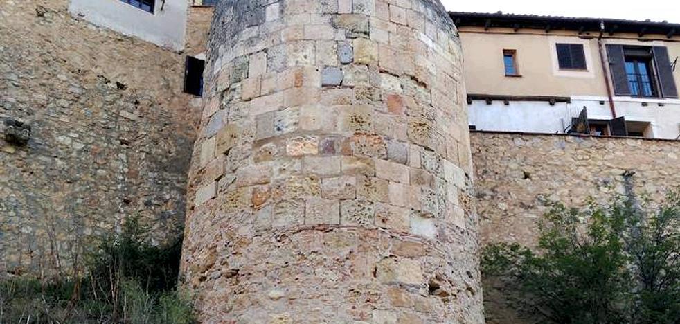 Obras de emergencia en la muralla de Segovia