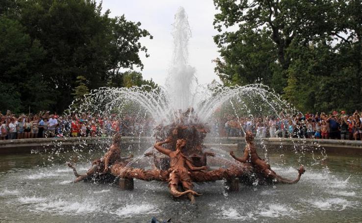 Juegos de agua de las fuentes monumentales de La Granja