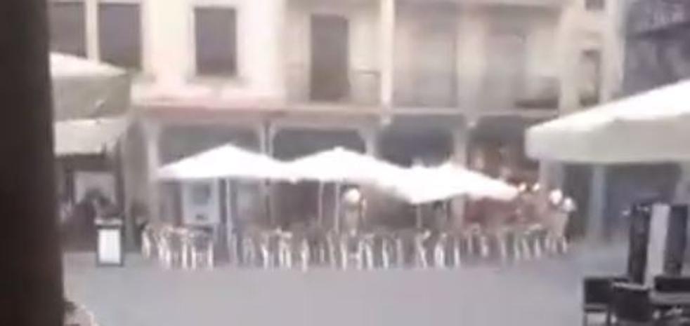 Una fortísima tormenta inunda Astorga