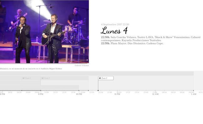 Consulta de forma interactiva el programa de fiestas del lunes día 4