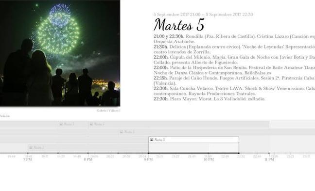 Consulta de forma interactiva el programa de fiestas del martes día 5