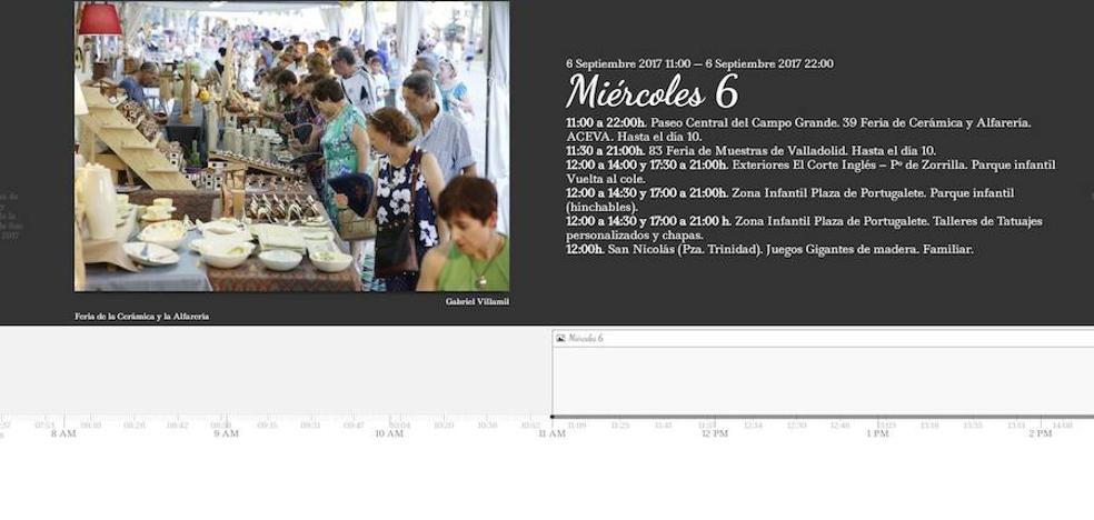 Consulta de forma interactiva el programa de fiestas del miércoles día 6