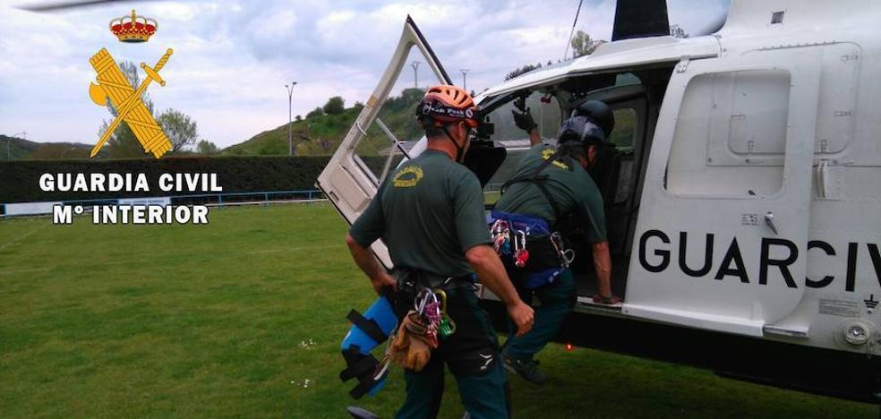 Rescatado un montañero herido en el Pico Curavacas
