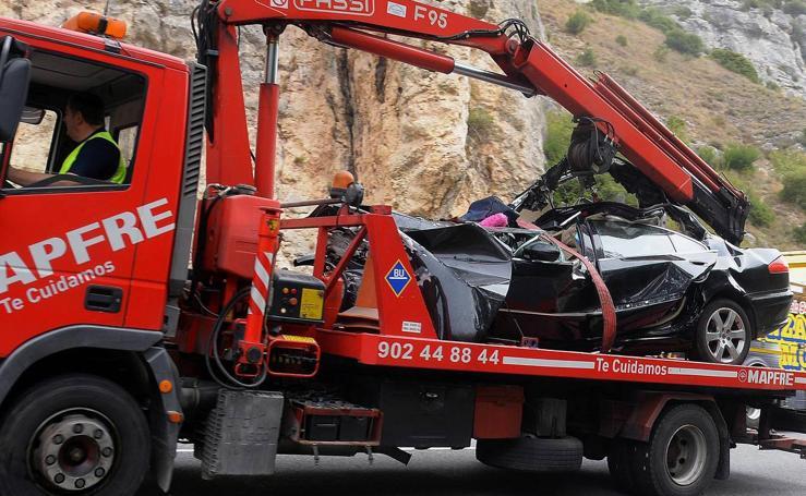 Cinco fallecidos al chocar un turismo y un camión en la N-1 en Pancorbo (Burgos)