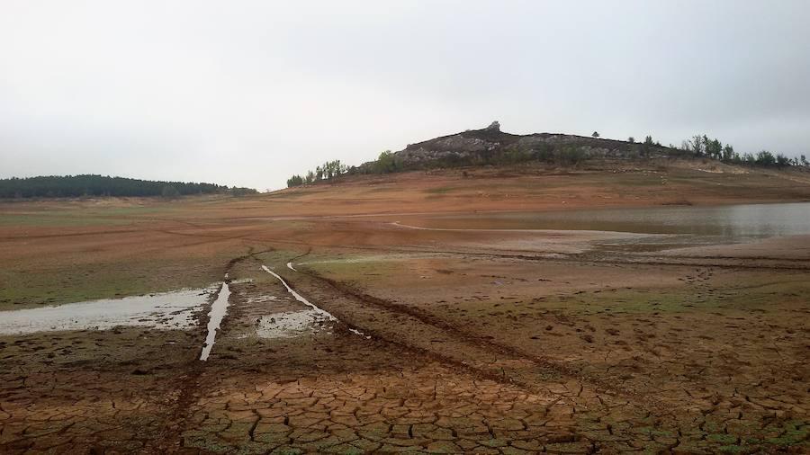 Sequía extrema en los pantanos de Palencia