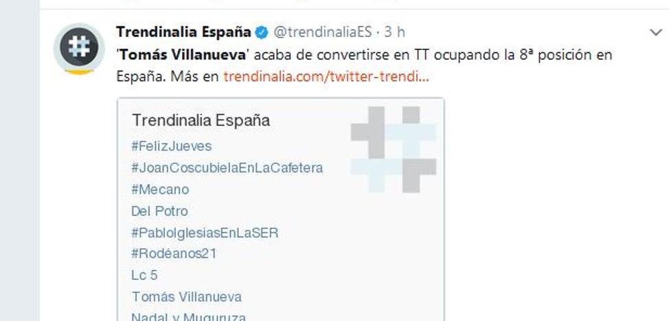 Así ha reaccionado Twitter a la muerte de Tomás Villanueva