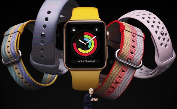 Tim Cook presenta el nuevo Apple Watch Series 3.