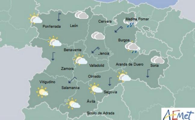 Castilla y León sufrirá a partir del jueves una brusca bajada de las temperaturas