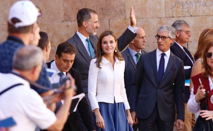 Los Reyes inauguran el curso académico en la Universidad de Salamanca