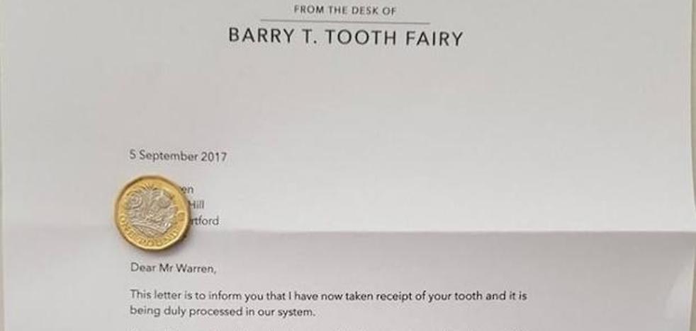 La carta que el 'Ratoncito Pérez' dejó a un niño para que se lavara los dientes