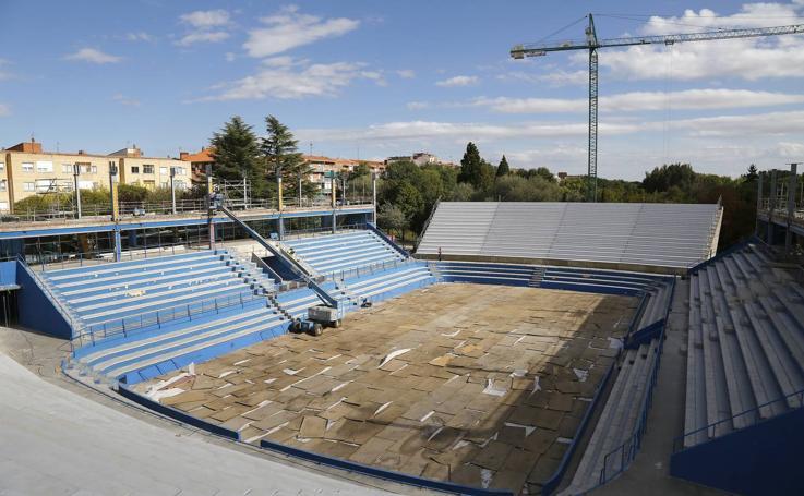 Estado de las obras del Pabellón EspañaDuero de Palencia