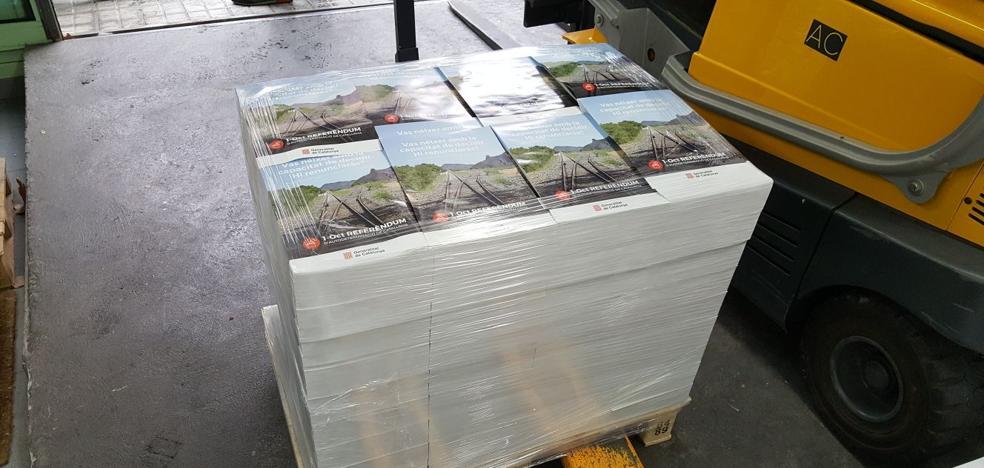 La Guardia Civil se incauta de 100.000 carteles de promoción del referéndum