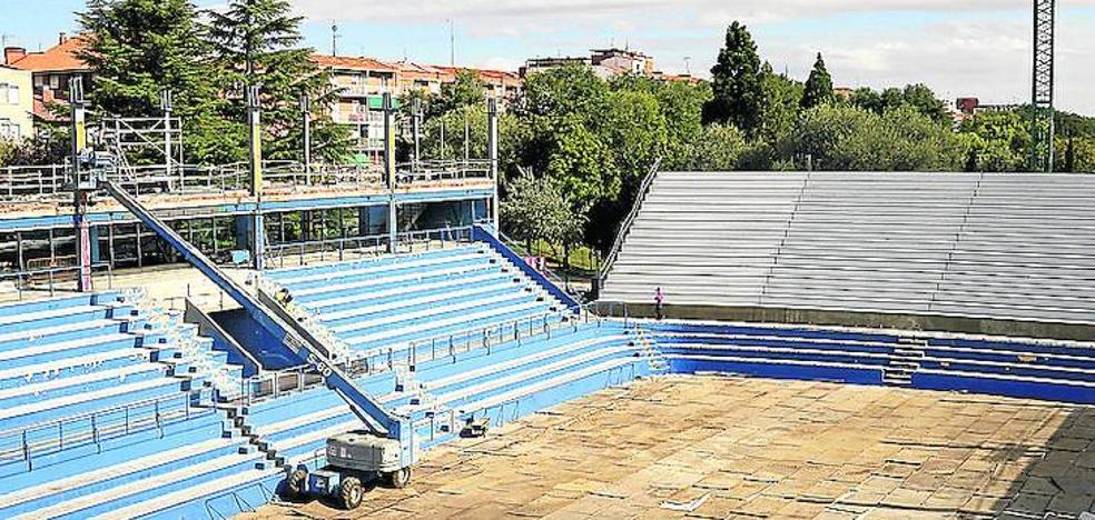 Las obras del pabellón de Palencia sufren un nuevo retraso