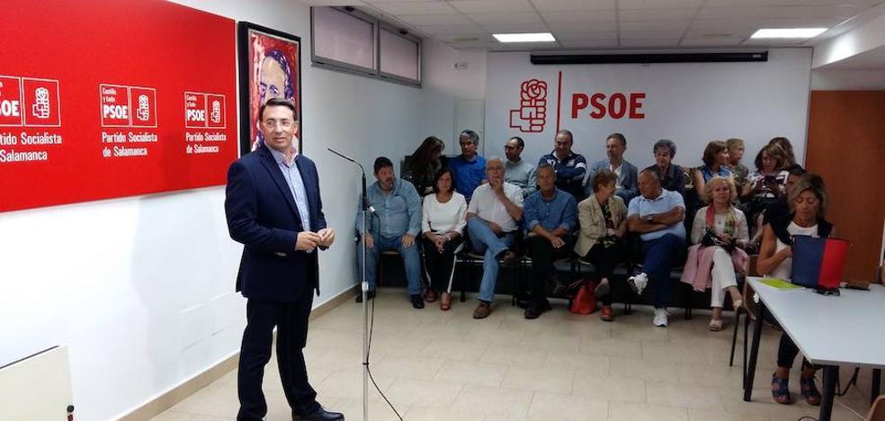 Fernando Pablos se presenta a la reelección como secretario del PSOE de Salamanca