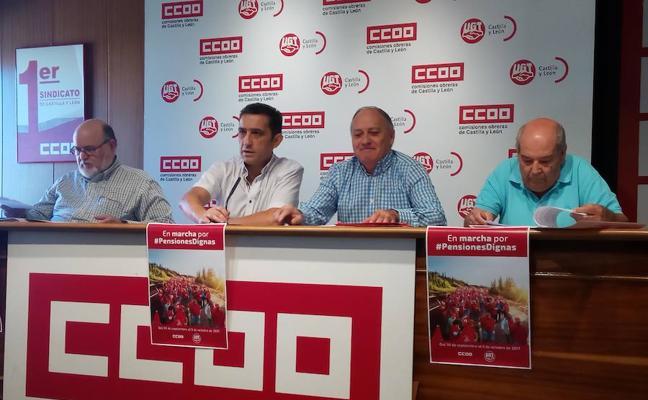 CC OO y UGT presentan las marchas por la dignidad de las pensiones