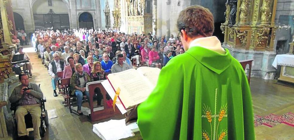 Las unidades pastorales de San Cebrián despiden a su párroco