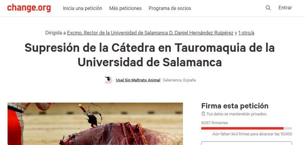 La Universidad de Salamanca suspende por seguridad la presentación de la Cátedra de Tauromaquia
