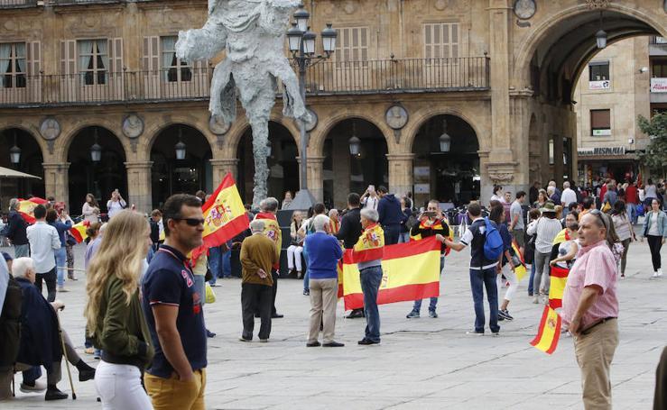 Concentración en Salamanca contra el referéndum de Cataluña