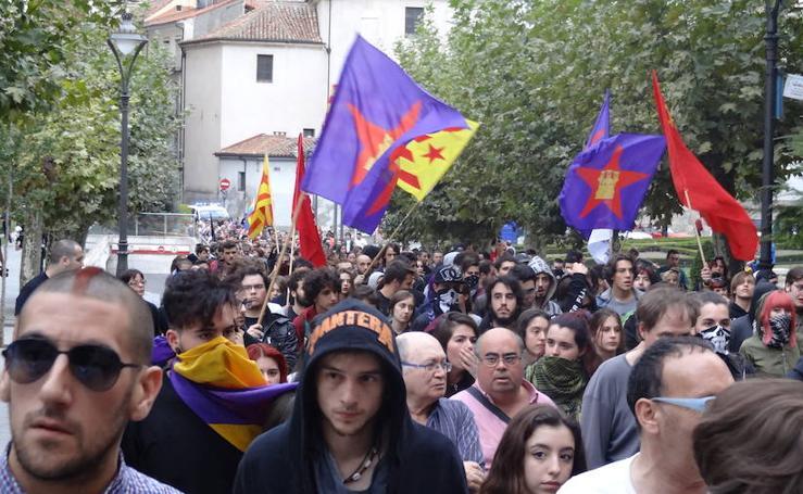 Manifestación en Valladolid por el derecho a decidir en Cataluña